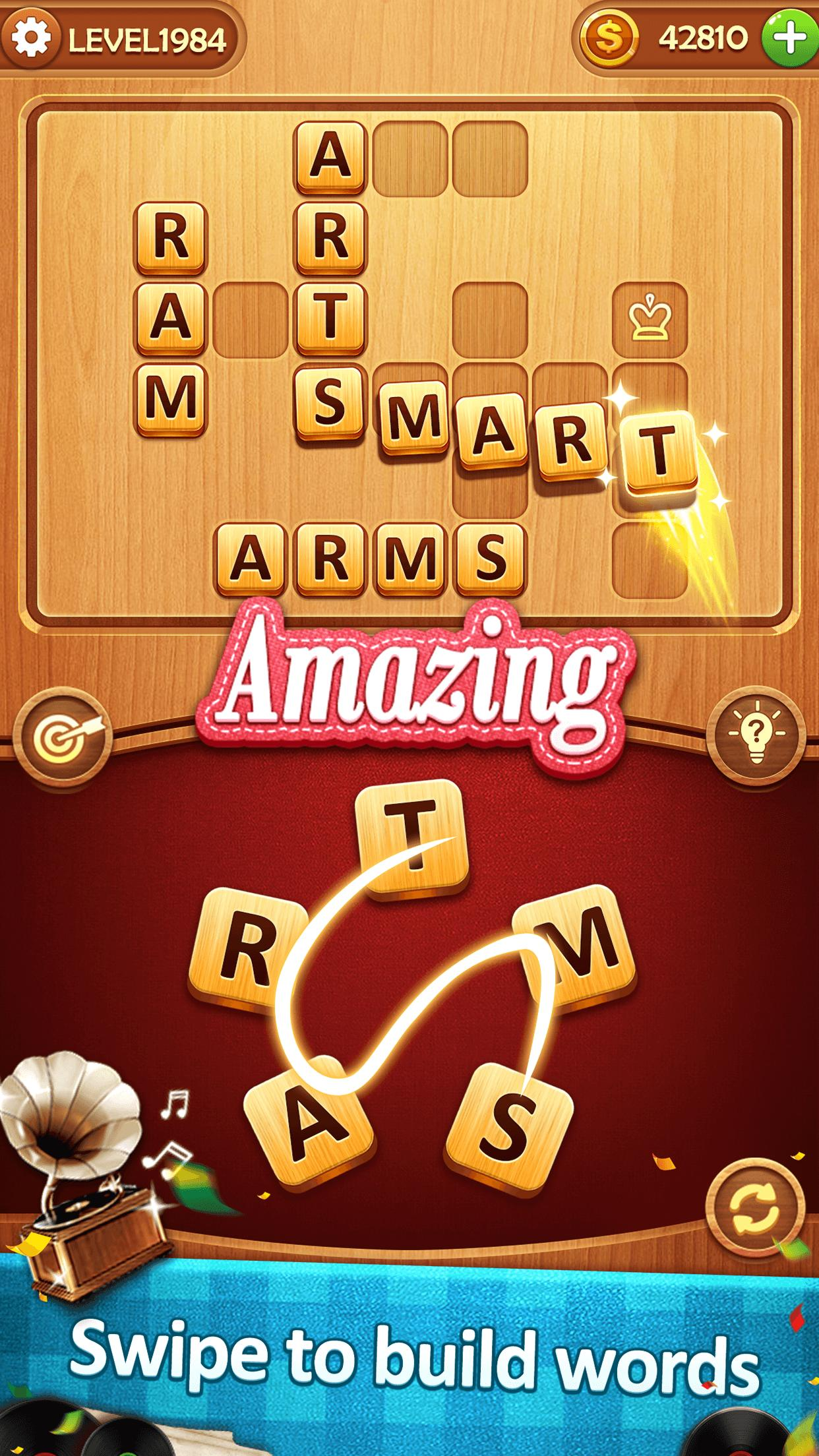Word Puzzle Music Box: Scramble Words Games for Android
