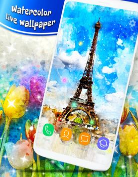 Watercolor Live Wallpapers ❤️ Painting Wallpapers 截图 5