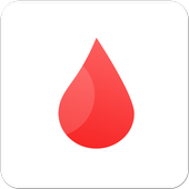 Blood in a tip icon
