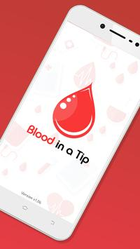 Blood in a tip poster
