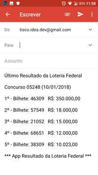 Resultado da Loteria Federal screenshot 1