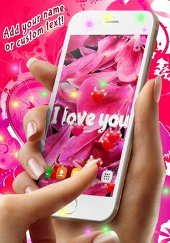 Sweet Love Live Wallpaper screenshot 1