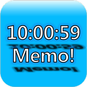Always on top clock and memo icon