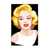 Sexy Monroe Stickers for WhatsApp, WAStickerApps иконка
