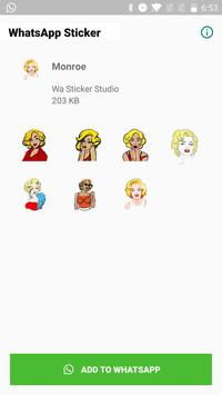 Sexy Monroe Stickers for WhatsApp, WAStickerApps скриншот 1