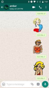 Sexy Monroe Stickers for WhatsApp, WAStickerApps скриншот 7