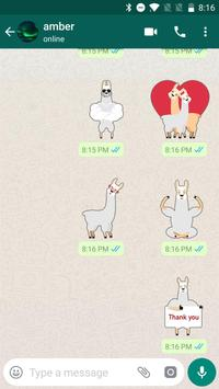 Funny Alpaca Stickers forWhatsApp, WAStickerApps screenshot 3