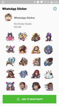 LOL--League Stickers for WhatsApp, WAStickerApps screenshot 6