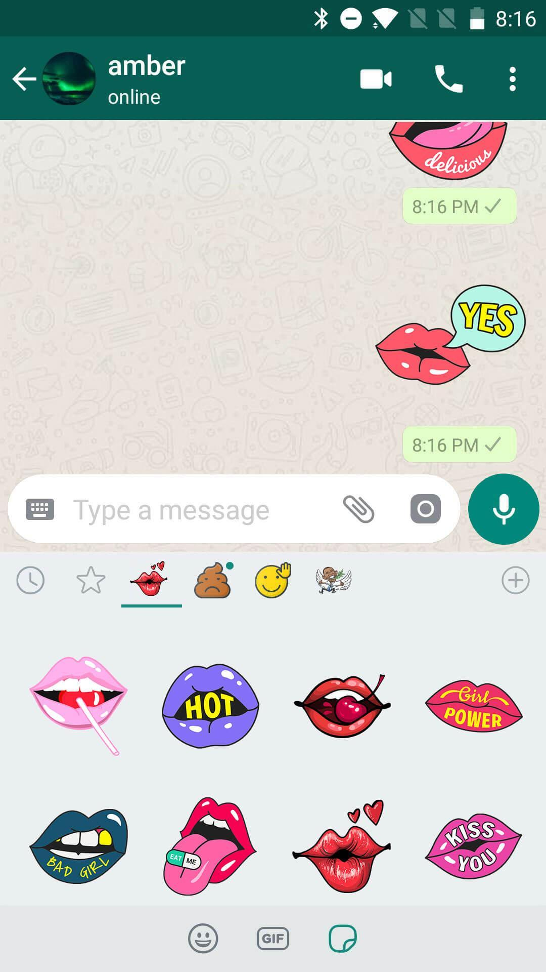 Sexy Lips Kiss Stickers For Whatsapp Wastickerapps For Android Apk Download