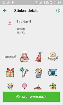 Wastickerapp Happy Birthday screenshot 1