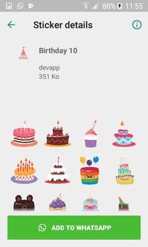 Wastickerapp Happy Birthday screenshot 2