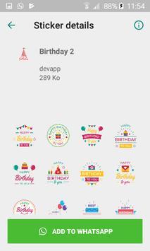 Wastickerapp Happy Birthday screenshot 3