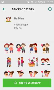 WAStickersapp - Be mine stickers for whatsapp screenshot 1