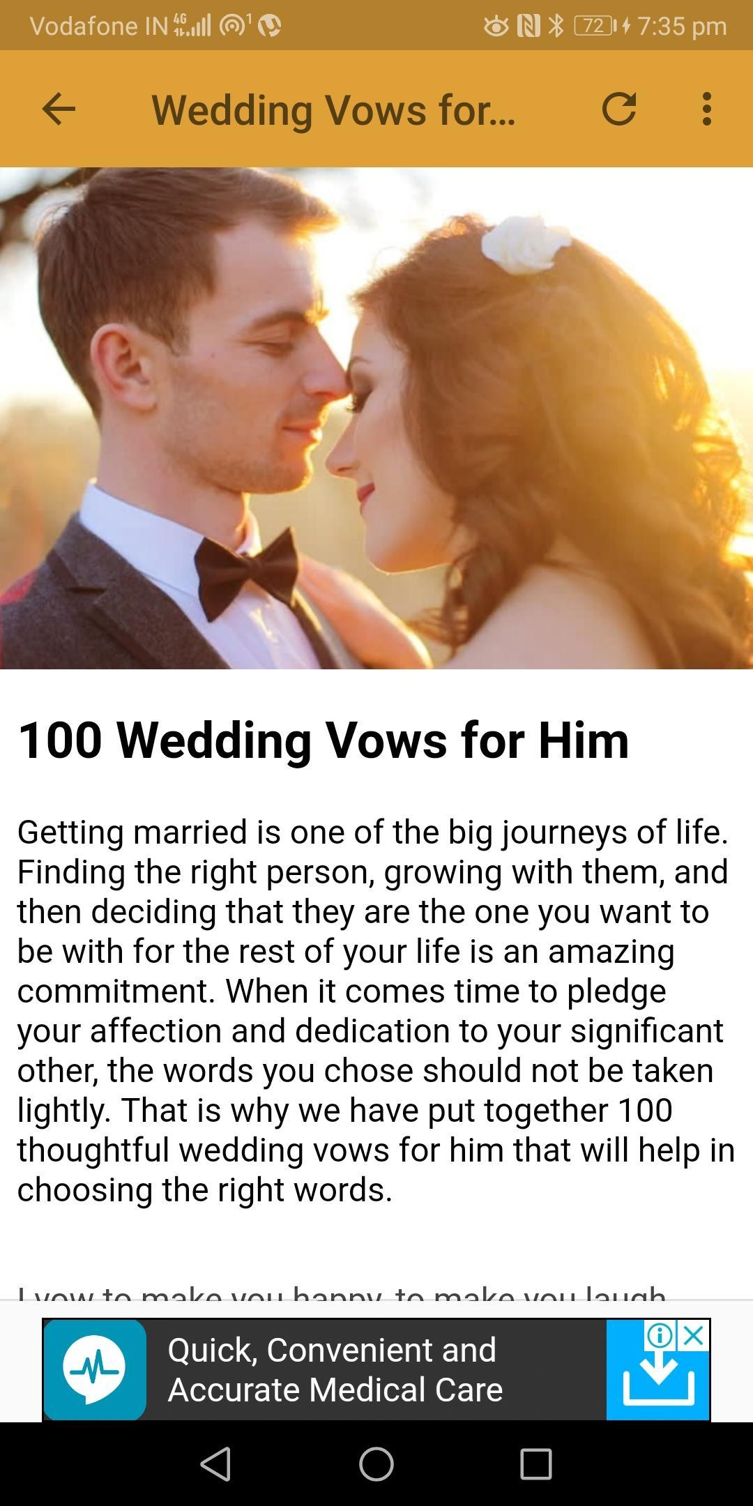 Wedding Vows Marriage Vows For Android Apk Download