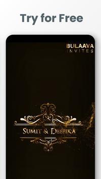 Invitation video maker & E cards from Bulaava poster