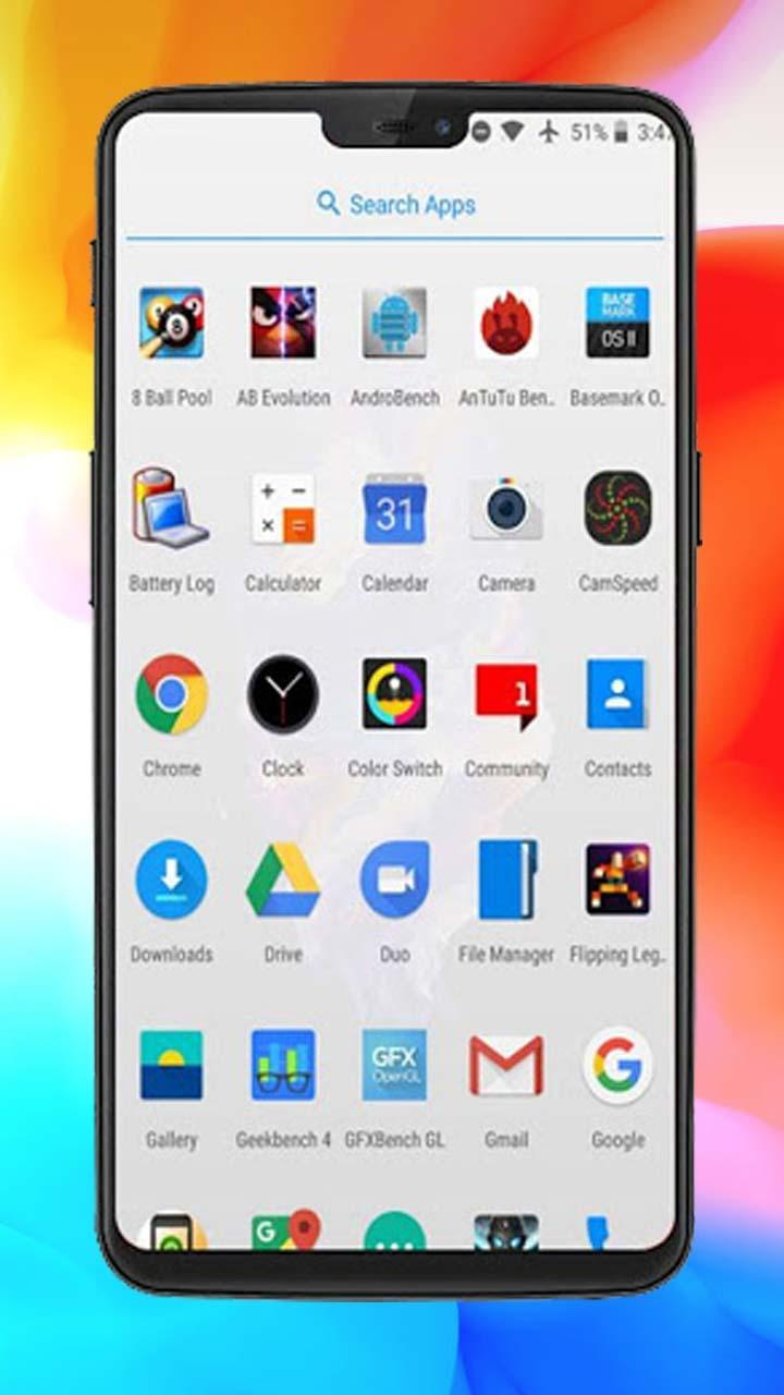 OnePlus 6T Launcher Themes and Icon Pack for Android - APK