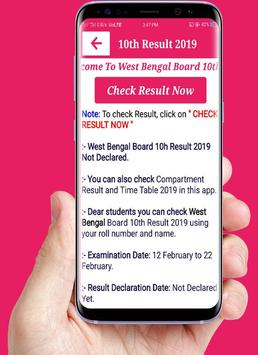 West Bengal Board Result 2019,10th & 12th Wb Board screenshot 2