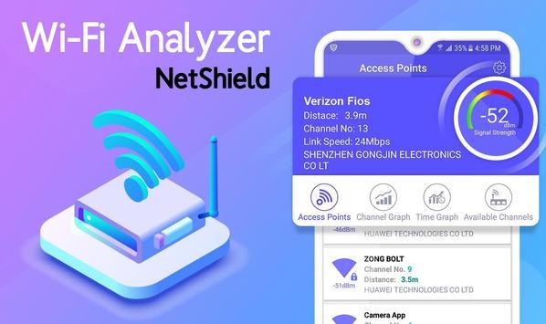 NET SHIELD - WiFi Analyzer, Internet Speed Test for Android - APK