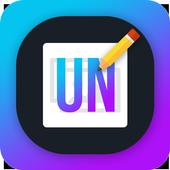 Write French Text on photo icon