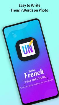 Write French Text on photo poster
