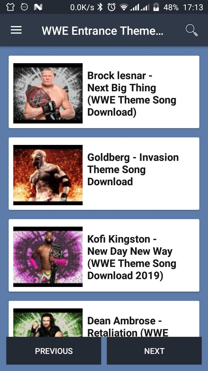WWE Entrance Theme Songs Download (2019) for Android - APK