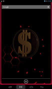 3 Schermata 3D Dollar Sign Live Wallpaper