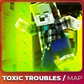 Toxic Troubles Parkour maps for MCPE icon