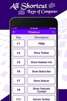 Computer Shortcut Keys screenshot 1