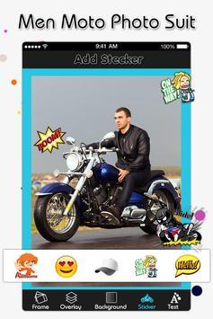 Men Moto Photo Suit screenshot 3