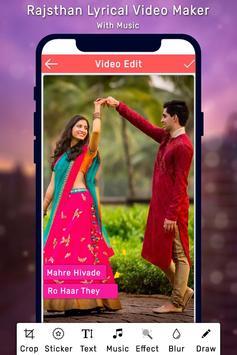 Rajasthani Lyrical Photo Video Maker With Music screenshot 1