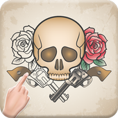Tattoo Designs Coloring Book : Free Coloring Game icon