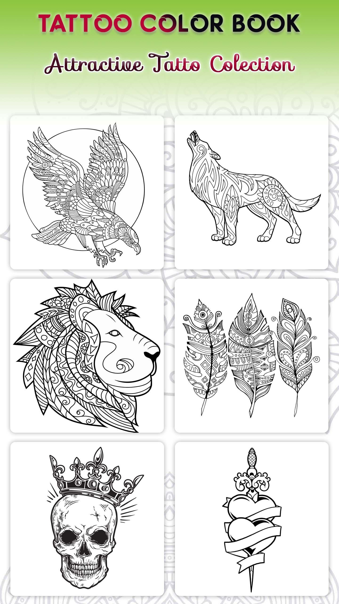 Tattoo Designs Coloring Book Free Coloring Game For Android Apk