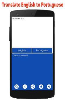 Portuguese English Translator screenshot 6