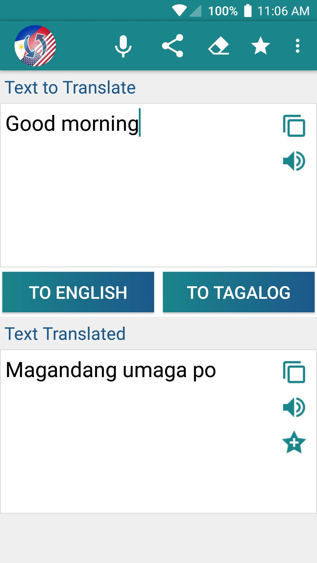 Tagalog English Translator Learn And Translate For Android Apk Download