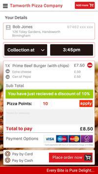 Tamworth Pizza Company UK screenshot 2