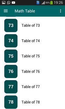 Math Table screenshot 5