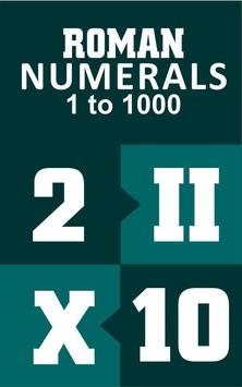 Roman Numerals 1 to 1000 poster
