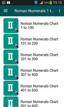 Roman Numerals 1 to 1000 screenshot 1