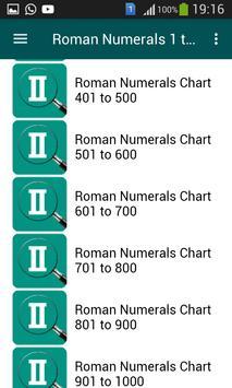 Roman Numerals 1 to 1000 screenshot 2