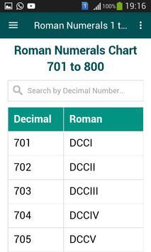 Roman Numerals 1 to 1000 screenshot 4