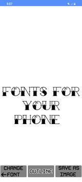 11 Schermata ✒️ Free Fonts - outline fonts - write calligraphy