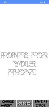 4 Schermata ✒️ Free Fonts - outline fonts - write calligraphy