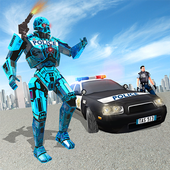 Transformer Robot Cop Shooting Action Game icon