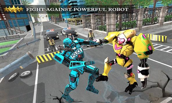 Transformer Robot Cop Shooting Action Game screenshot 2