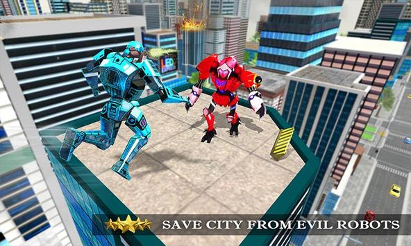 Transformer Robot Cop Shooting Action Game screenshot 3