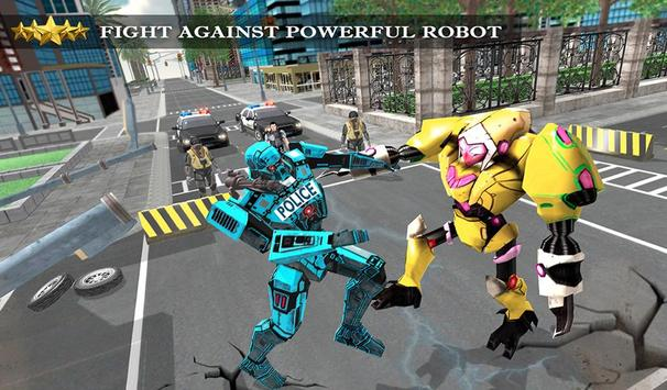 Transformer Robot Cop Shooting Action Game screenshot 8