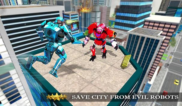 Transformer Robot Cop Shooting Action Game screenshot 9
