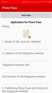 SMART TRICHY TDID APPLICATION FOR PRESS PASS screenshot 1