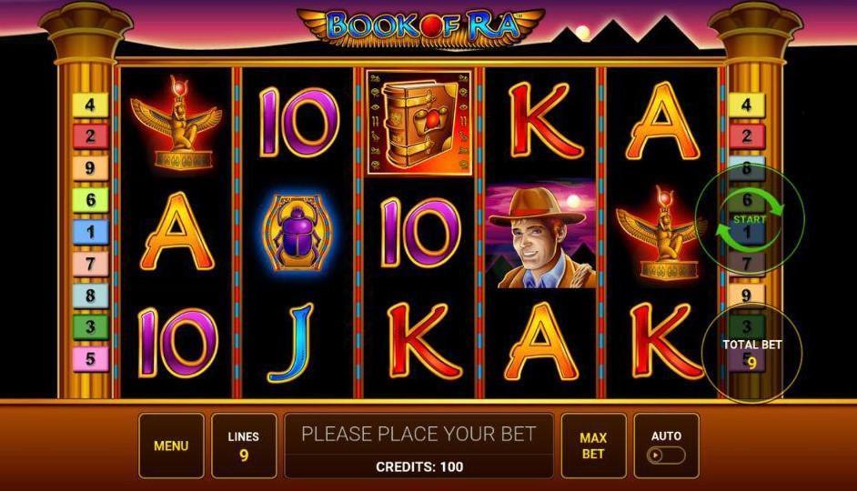 Играть в игровой автомат книга ра