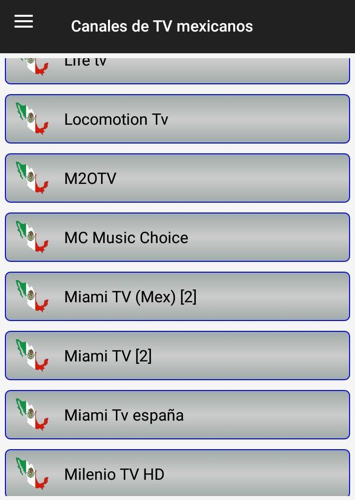Mexican TV channels on LIVE for Android - APK Download